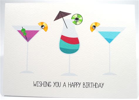 martini birthday card happy birthday card female cocktail drinks hbf129