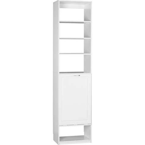 systembuild closet organizer her unit white