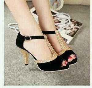 Sepatu Sandal High Heels De96 Merah Terbaru sepatu sandal high heels hitam cantik model terbaru murah
