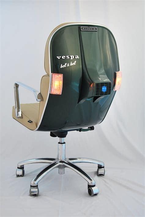 sedia vespa oggetti di uso quotidiano riciclati come originali mobili