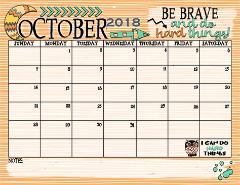 blank calendar template for october 2018 business plan template