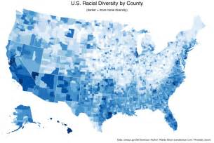 u s racial diversity by county dr randal s