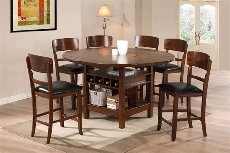 valencia antique style round table dining room set round breakfast table sets clay alder home harrisburg 5