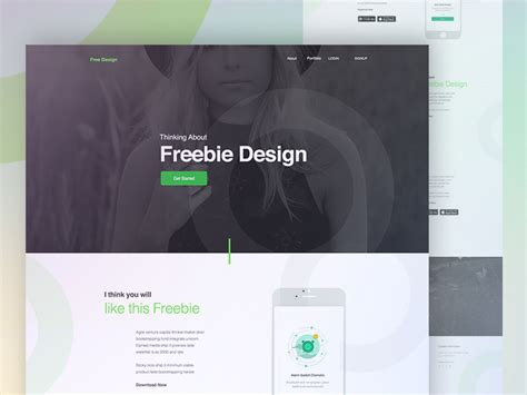 mobile landing page templates illustration psd at downloadfreepsd