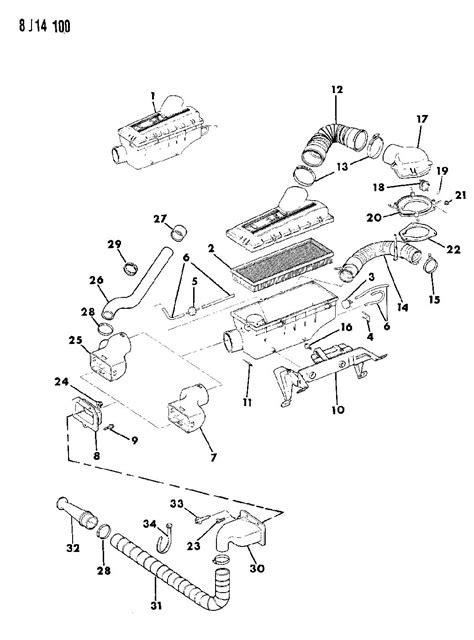 1988 Jeep Parts 1988 Jeep Wrangler Air Cleaner 2 5l Efi Engine Wrangler Yj