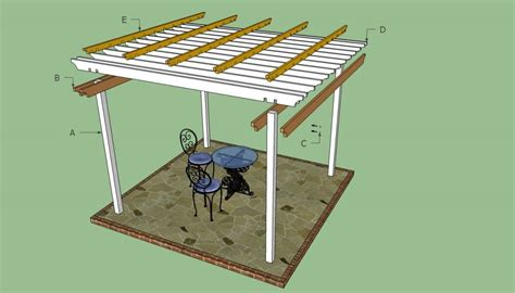 arbor building plans pergola plans free howtospecialist how to build step