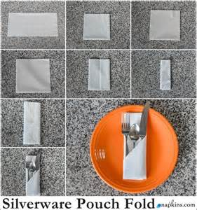Folding Paper Napkins To Hold Silverware - how to silverware pouch napkin fold