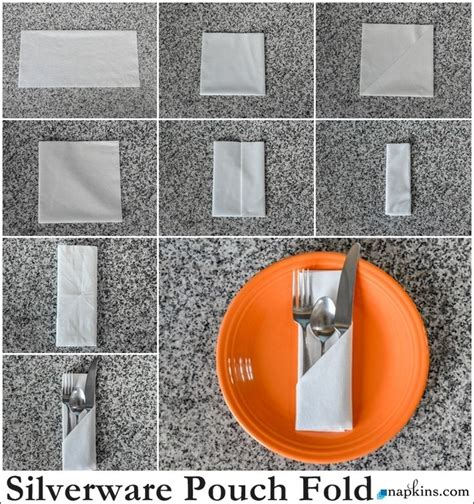 how to silverware pouch napkin fold