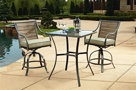 Garden Oasis Long Beach 3pc Bistro Set   Outdoor Living   Patio Furniture   Small Space Sets