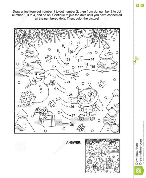 new year themed coloring pages dot to dot and coloring page with candy cane stock vector