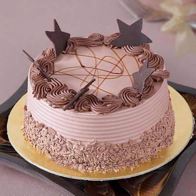 Chocolate Cake with Chocolate Stars Topping (1 Kg): Order
