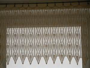 Crochet Valance Curtains Crochet Curtain Lace Window Valance