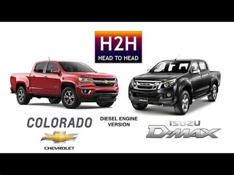 h2h #26 isuzu d max vs chevy colorado (diesel engine