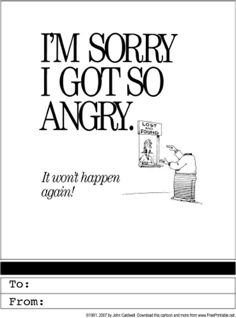Apology Card Template Free by Apology Printable Greeting Card
