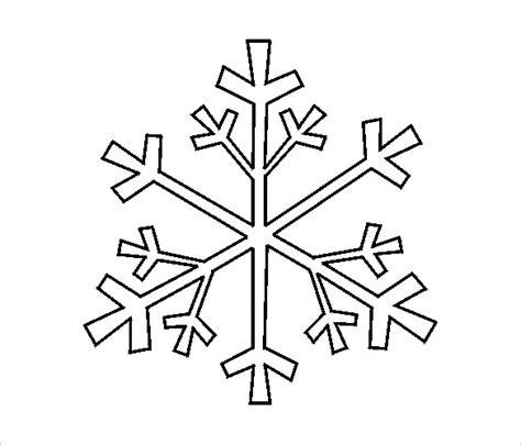 templates for snowflakes free snowflake templates 17 free printable sle