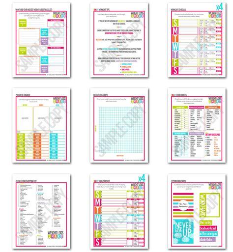 Smart Weight Loss Printable Planner | smart weight loss fitness planner fitness fashionista