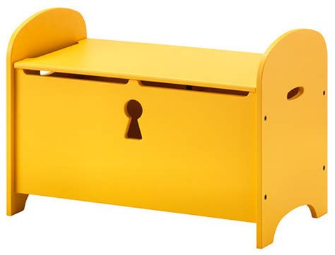 toy chest bench ikea trogen storage bench yellow contemporary accent and