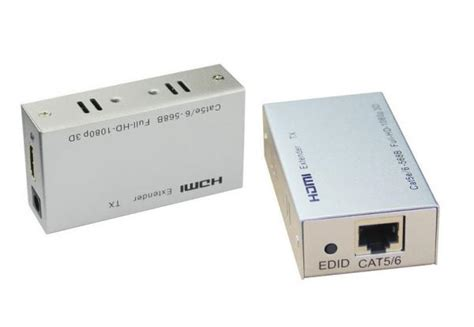 Original Hdmi Extender Bafo Support Up To 60m Untuk Cat5 Cat6 1 60m hdmi extenders by single utp cat5e 6 cable support lpcm7 1 1080p 106344474