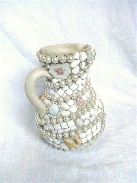 wrapped in pearls mosaic vase