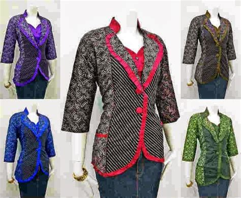 Blouse Muslim Baju Atasan Wanita Yuri Tunic model blazer batik untuk wanita kantoran trend baju batik terbaru models and blazers