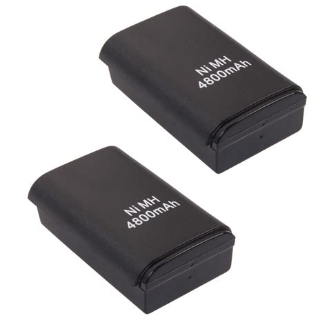 Battery Pack Xbox 360 Rechargeable 2pcs wireless 4800 mah controller rechargeable battery