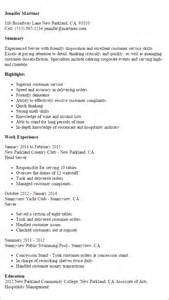 titles and descriptions busboy resume sle template