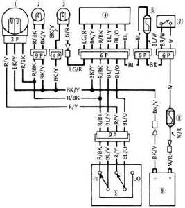 kawasaki 454 ltd en450 headlight system circuit wiring