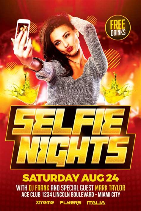 template flyer disco selfie party flyer template download xtremeflyers