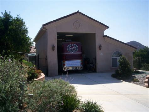 house with rv garage custom rv garage builder southern californiaquality sheds
