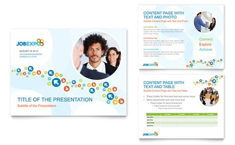 powerpoint templates for brochures job expo career fair powerpoint presentation template design