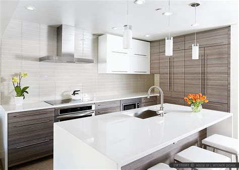 Modern Tile Countertops by Modern White Glass Subway Backsplash Tile