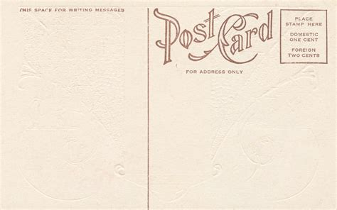 S March Post Card Template by Free Photo Blank Vintage Postcard Circa 1910s Retro