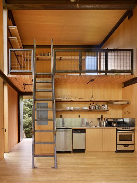 tiny house interior design ideas tiny loft homes and tiny picturesque steel clad fishing cabin by olson kundig