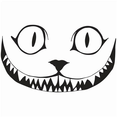 vinyl printing hshire cheshire cat smile decal 5 5 7 5 11 5 quot sizes 10 color