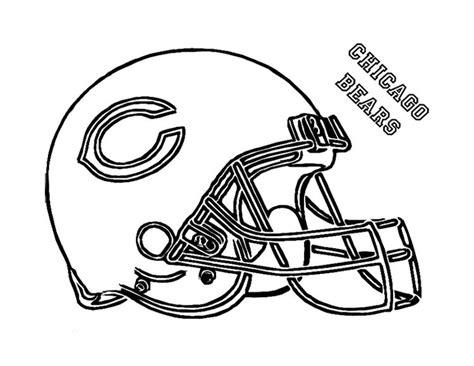 football helmet chicago bears coloring page  kids nfl