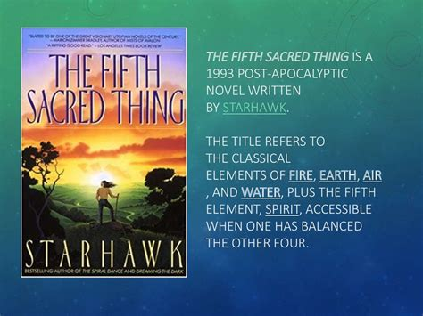 The Fifth Sacred Thing By Starhawk презентация онлайн