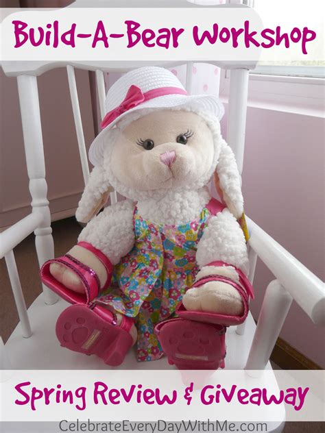 Build A Bear Giveaway - build a bear workshop spring review giveaway celebrate every day with me