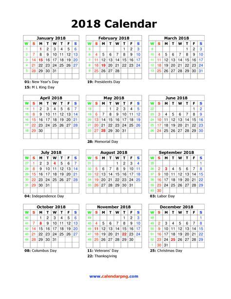 Calendar 2018 Portrait 2018 Calendar Png