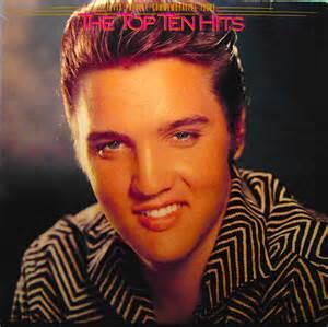 Elvis presley the top ten hits w poster lp x 2