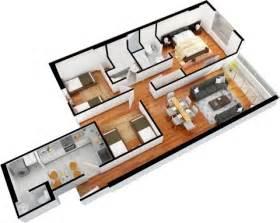 3 bedroom apartment interior design departamentos de 3 dormitorios y 2 dormitorios planos 3d