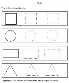 tracing geometric shapes worksheet table time pinterest