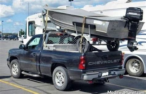 car with a truck bed 2007 chevrolet silverado with boat mounted to truck bed fail