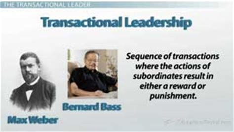 authoritative biography definition the transactional leader video lesson transcript
