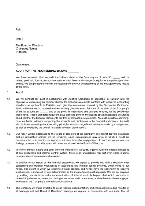 Audit Response Letter In House Counsel Sle Management Representation Letter For Performance General Counsel Engagement Letters