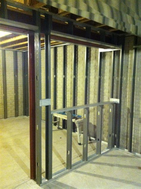 stud walls in basement metal stud wall framing finished basements west bend wi