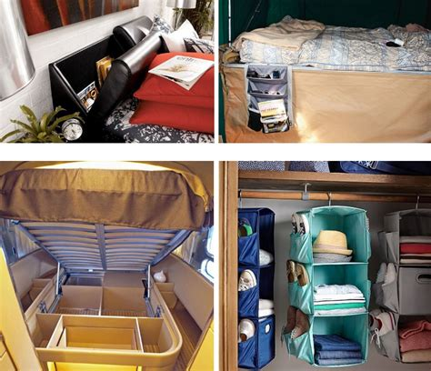 Rv Bedroom Storage Ideas Motorhome Space Saving Ideas