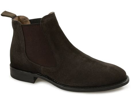 mens chelsea boots lucini mens suede welted dainite chelsea boots brown buy