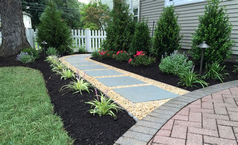 walkway landscape design autumn leaf landscape design