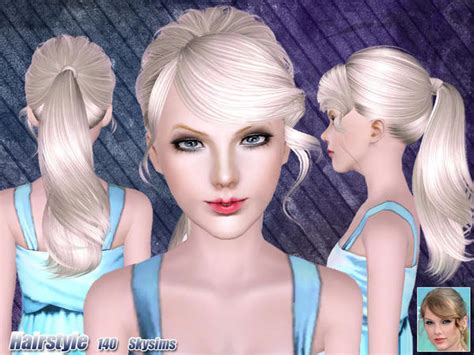 skysims hair child 188 sims 3 pinterest messy ponytail hairstyle 140 by skysims sims 3 hairs
