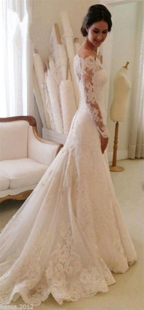 Wedding Dresses The Shoulder by Lace Wedding Dresses White Ivory The Shoulder